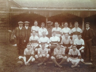 East Budleigh FC Pictured Outside Village Hall